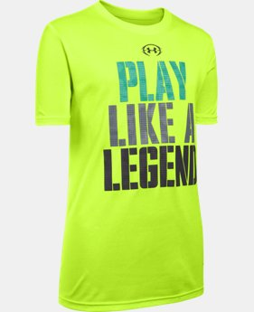 New Arrival Boys' UA Play Like A Legend T-Shirt LIMITED TIME: FREE SHIPPING 2 Colors $19.99