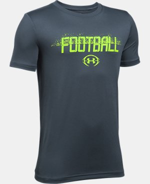Boys' UA Football Branded T-Shirt LIMITED TIME: FREE U.S. SHIPPING 1 Color $11.24 to $14.99