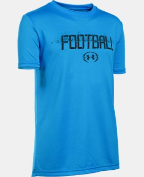 New Arrival Boys' UA Football Branded T-Shirt LIMITED TIME: FREE SHIPPING 1 Color $19.99