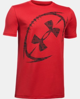 Boys' UA Logo Football T-Shirt  1 Color $19.99