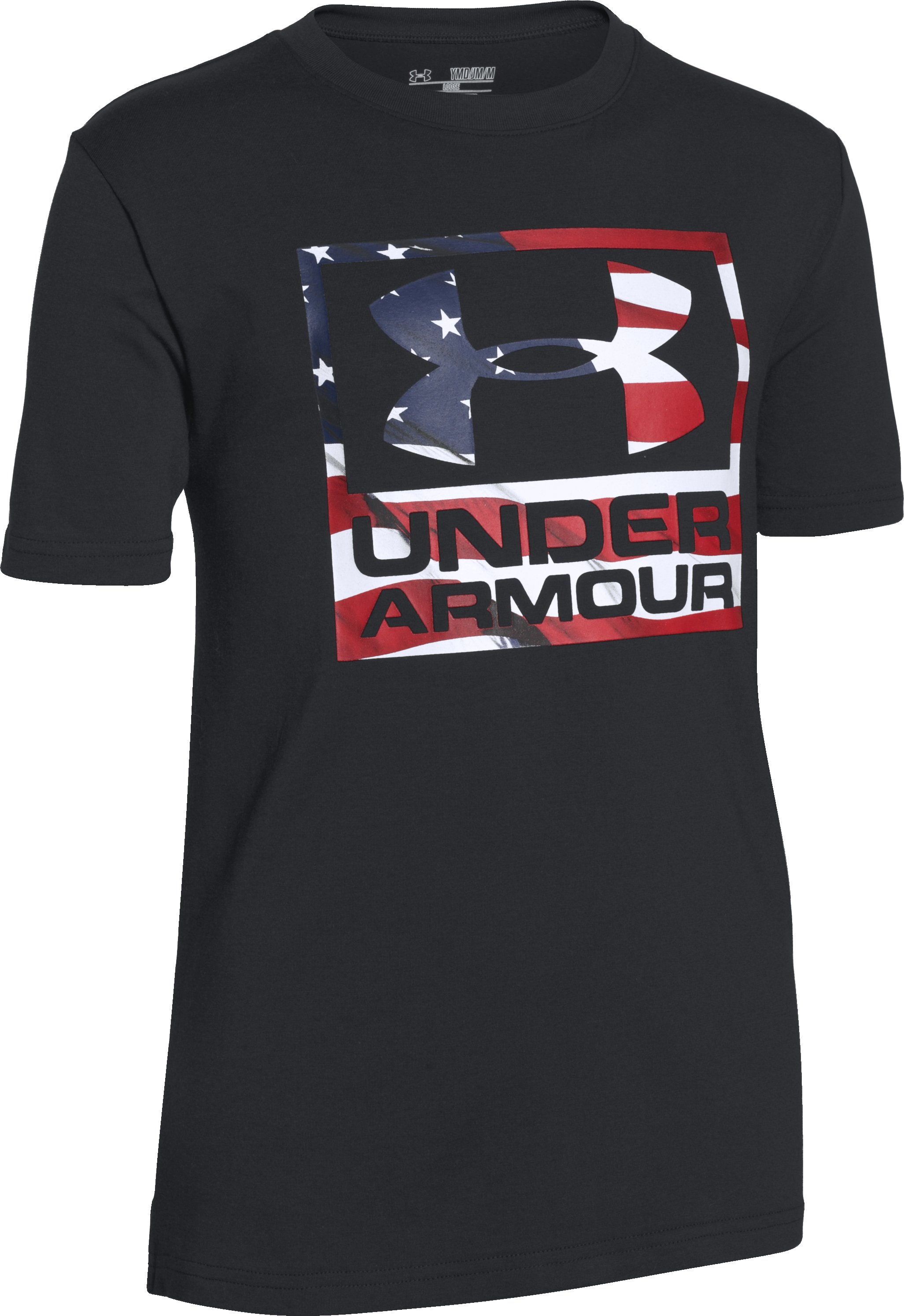 Boys' UA Big Flag Logo T-Shirt, Black ,
