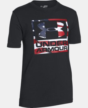 New Arrival Boys' UA Big Flag Logo T-Shirt LIMITED TIME: FREE SHIPPING 1 Color $19.99