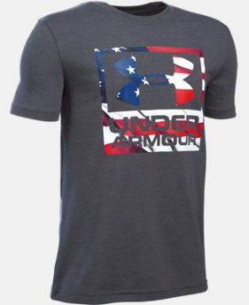 New Arrival Boys' UA Big Flag Logo T-Shirt LIMITED TIME: FREE SHIPPING 2 Colors $19.99