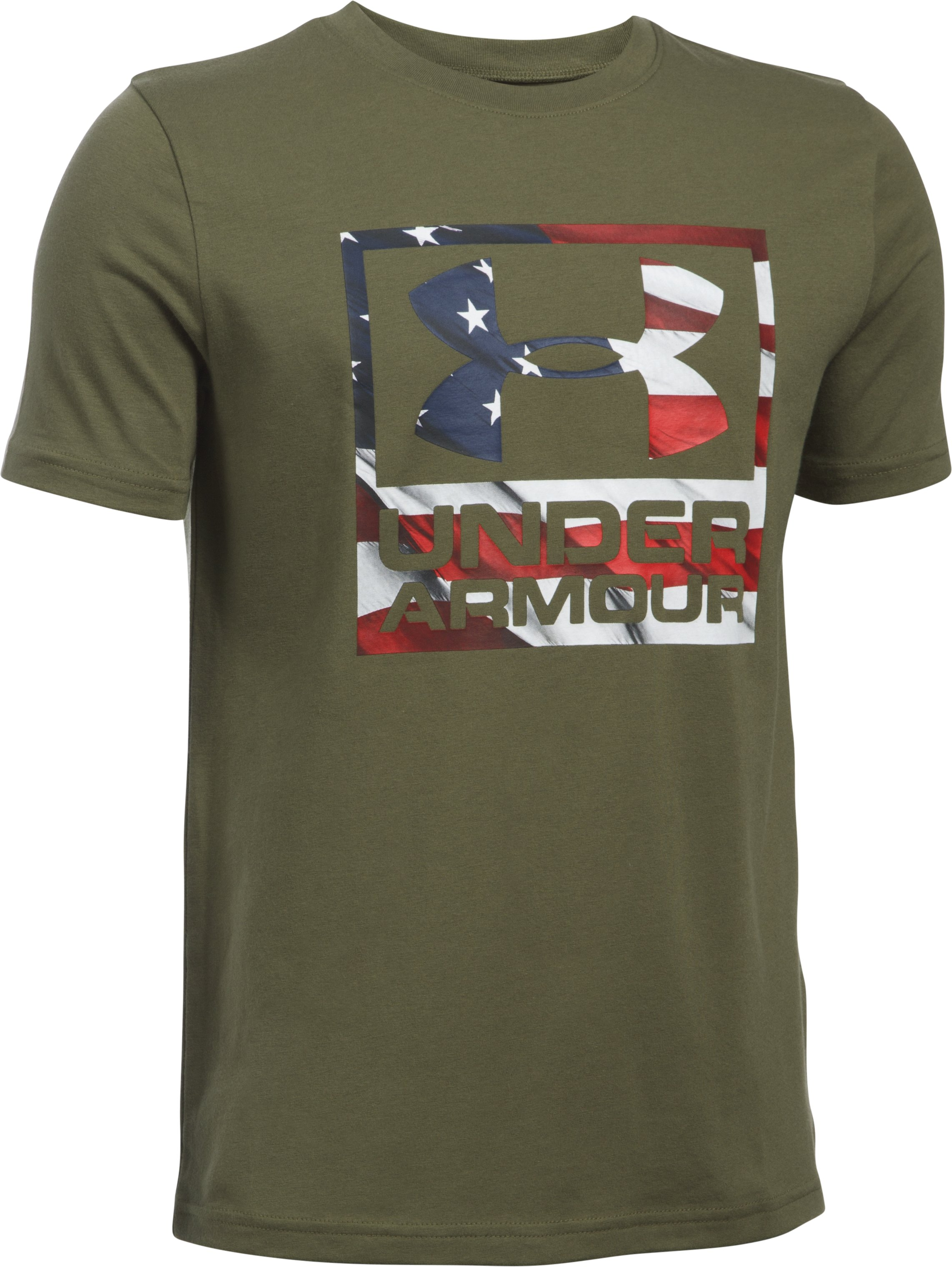 Boys' UA Big Flag Logo T-Shirt, Marine OD Green,