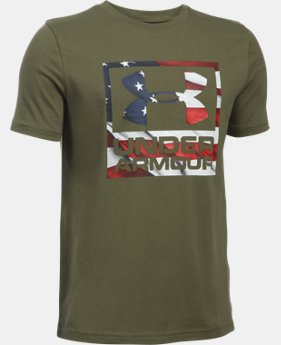 Boys' UA Big Flag Logo T-Shirt  2 Colors $19.99