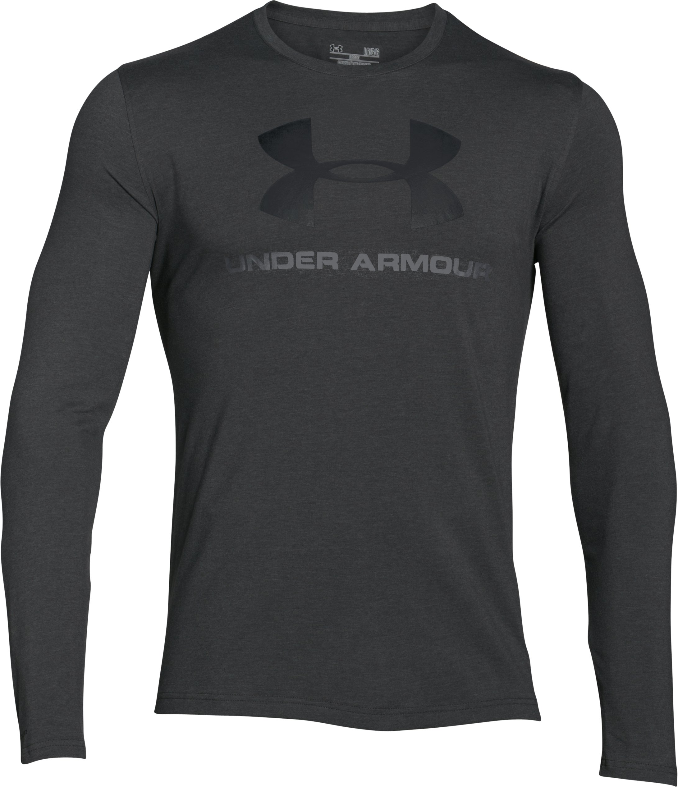 Men's UA Sportstyle Long Sleeve T-Shirt, Carbon Heather, undefined
