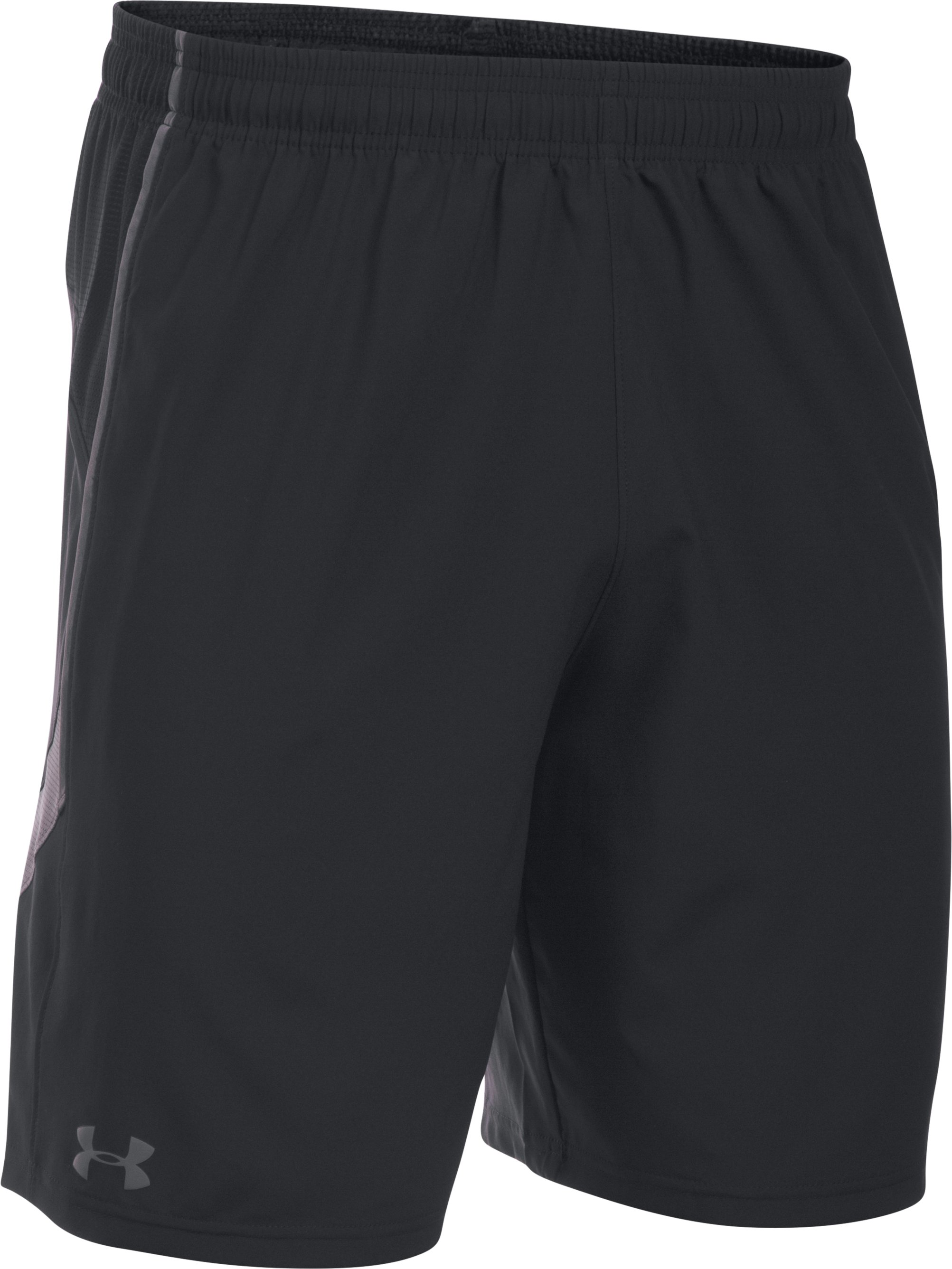 Men's UA Pitch Woven Shorts, Black , undefined