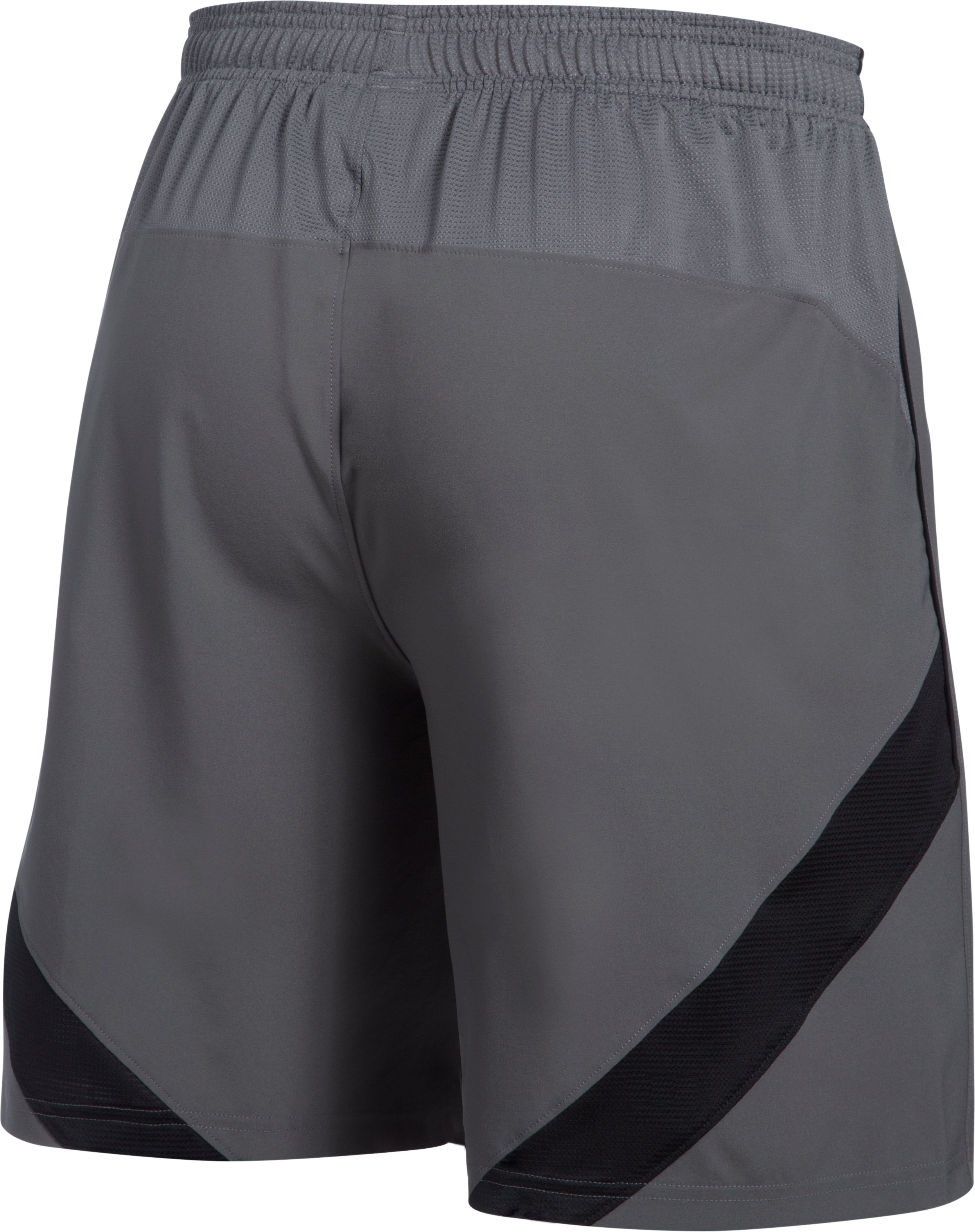 Men's UA Pitch Woven Shorts, Graphite