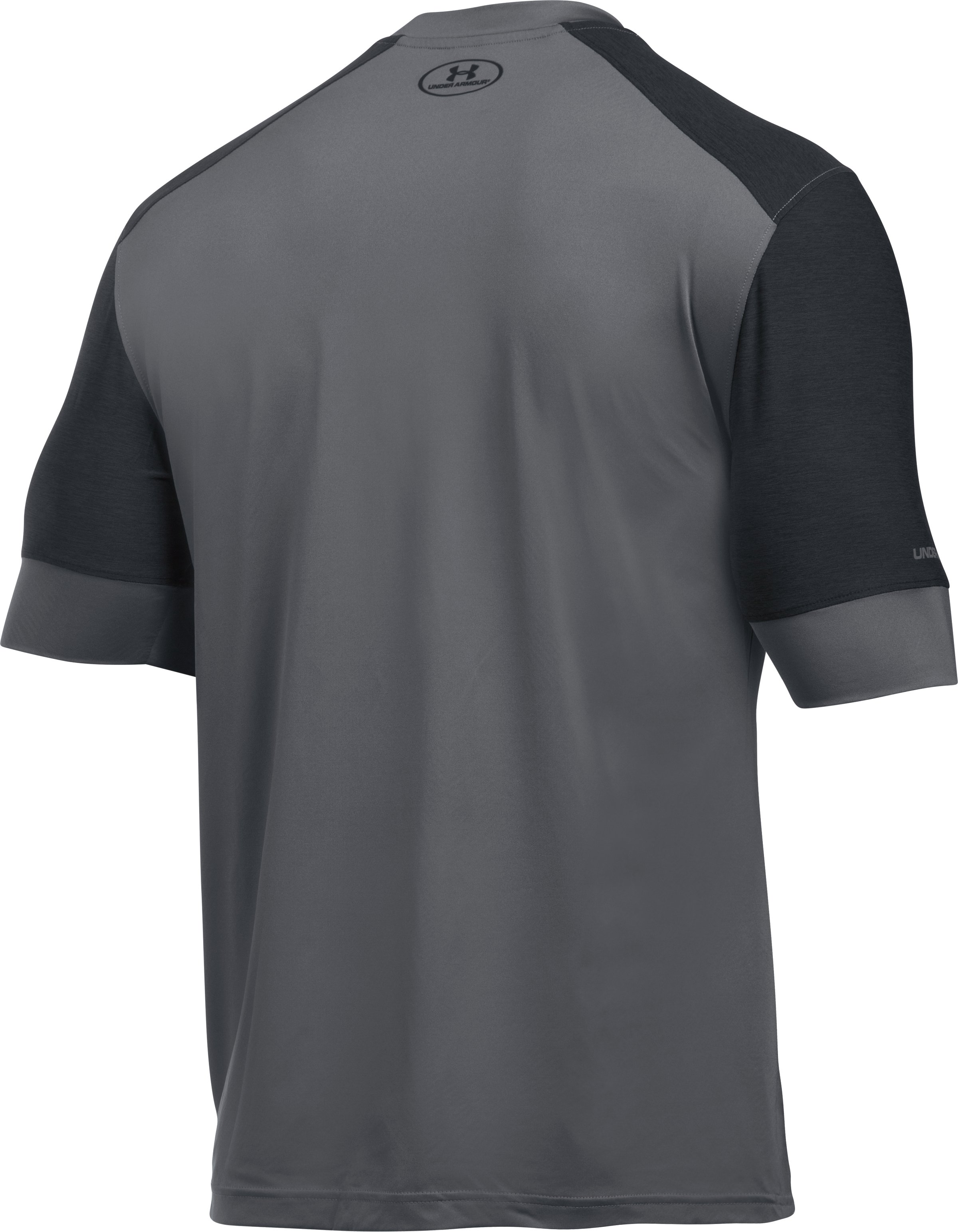 Men's UA CoolSwitch Pitch Training Top, Graphite, undefined