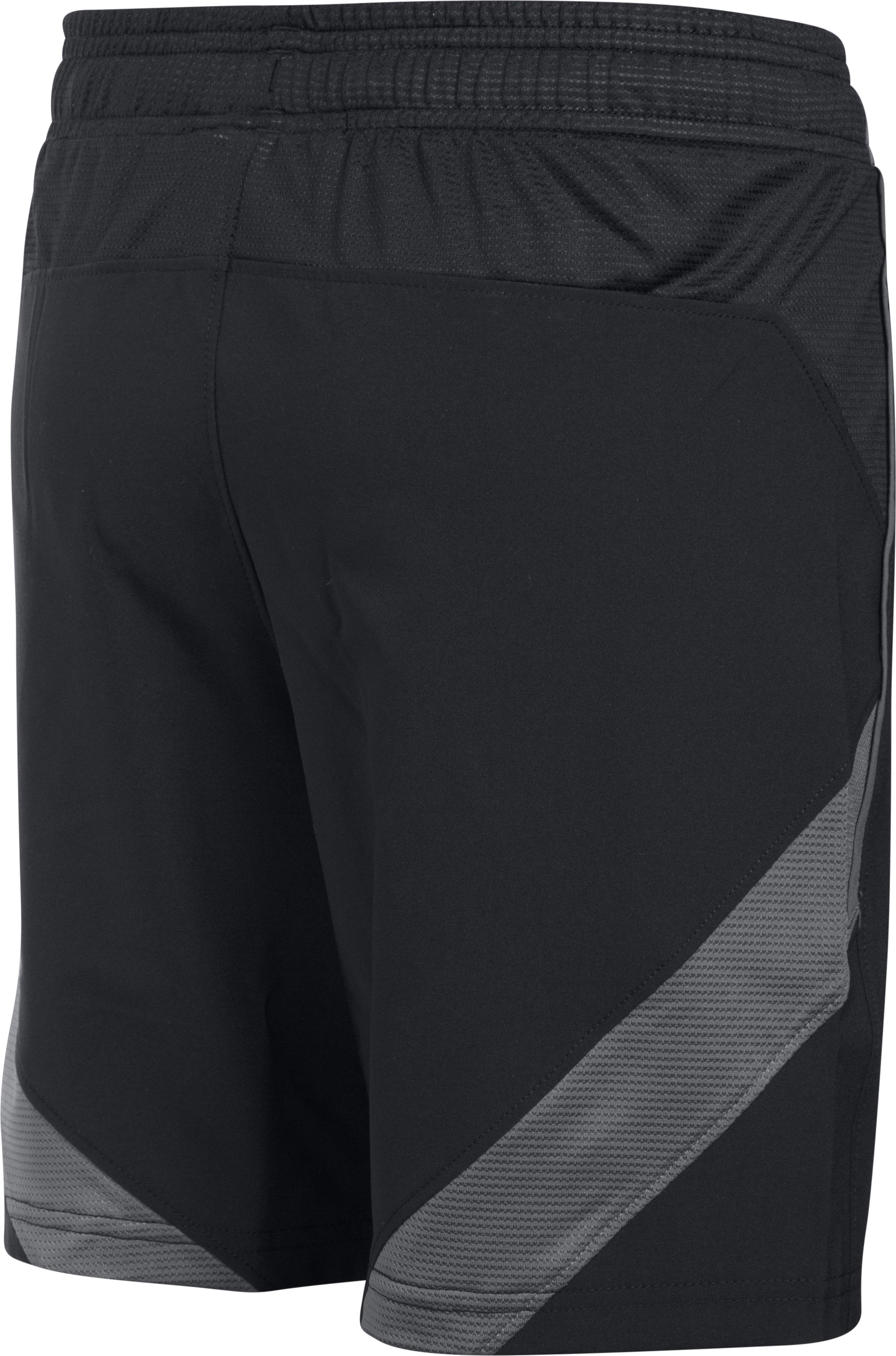 Boys' UA Pitch Woven Shorts, Black , undefined