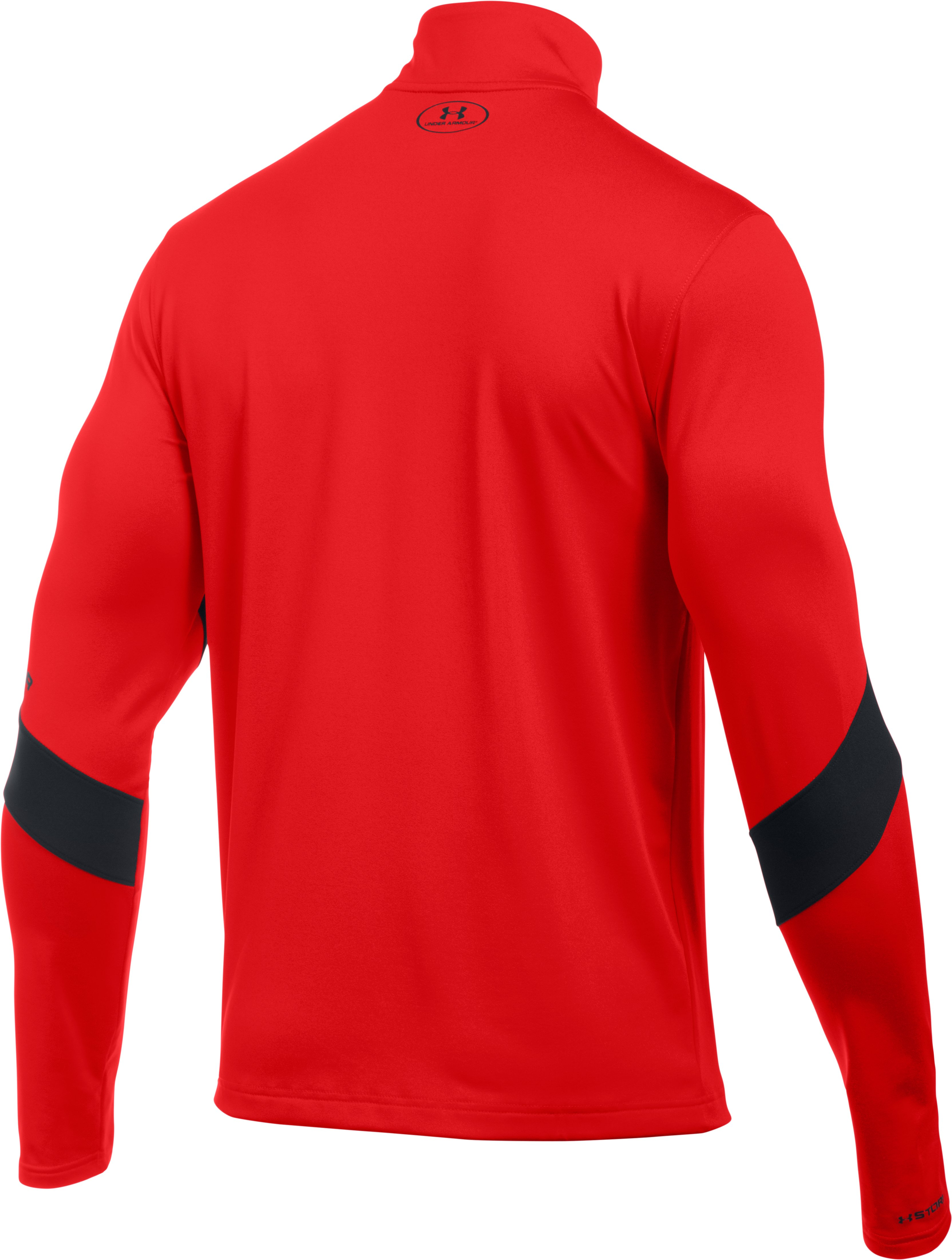 Men's UA Storm Pitch ¼ Zip, RISK RED,