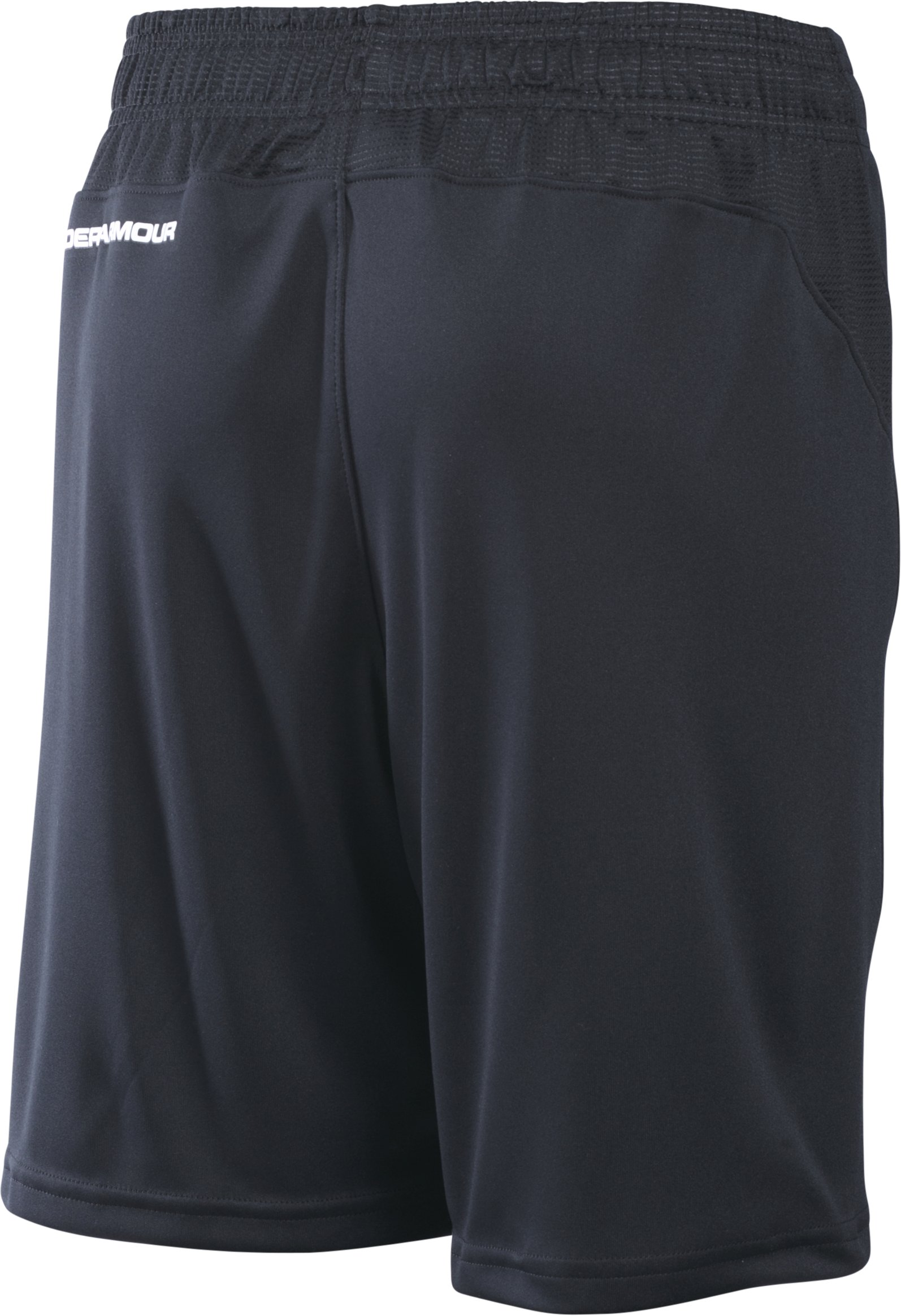 Boys' UA Challenger Knit Shorts, Black , zoomed image