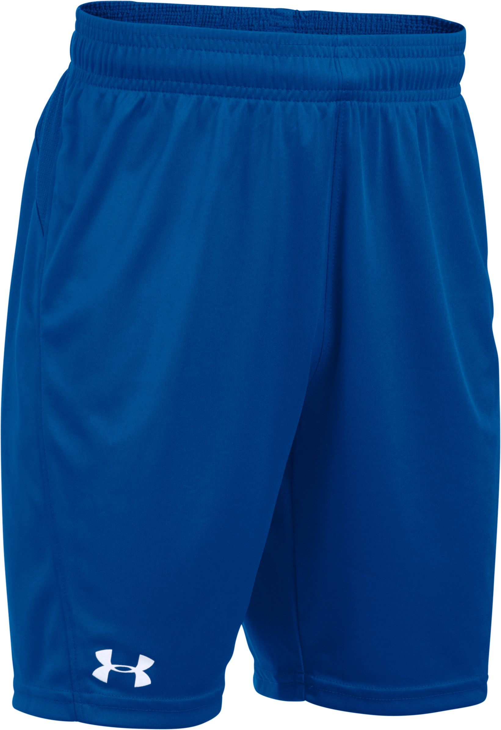 Boys' UA Challenger Knit Shorts, Royal,