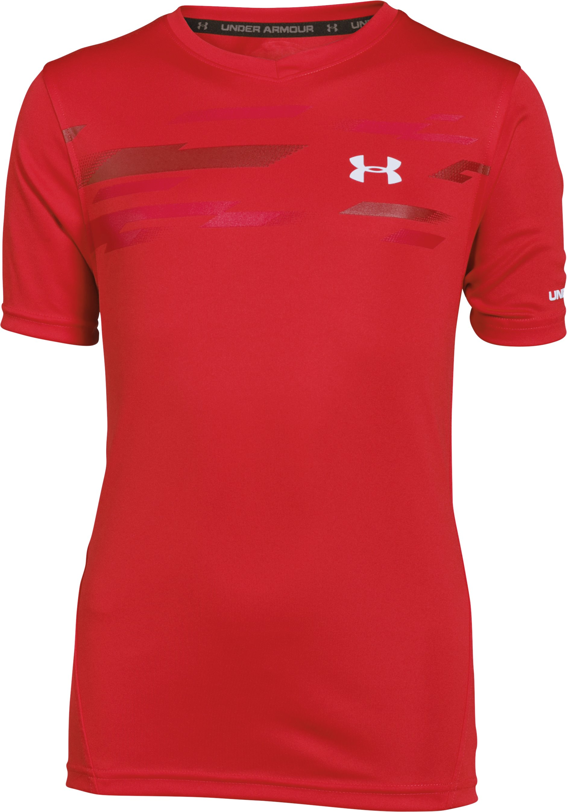 Boys' UA Challenger Training Shirt, RISK RED, zoomed image
