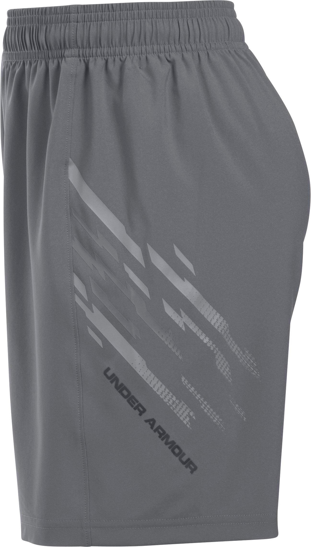 Boys' UA Challenger Woven Shorts, Graphite, undefined