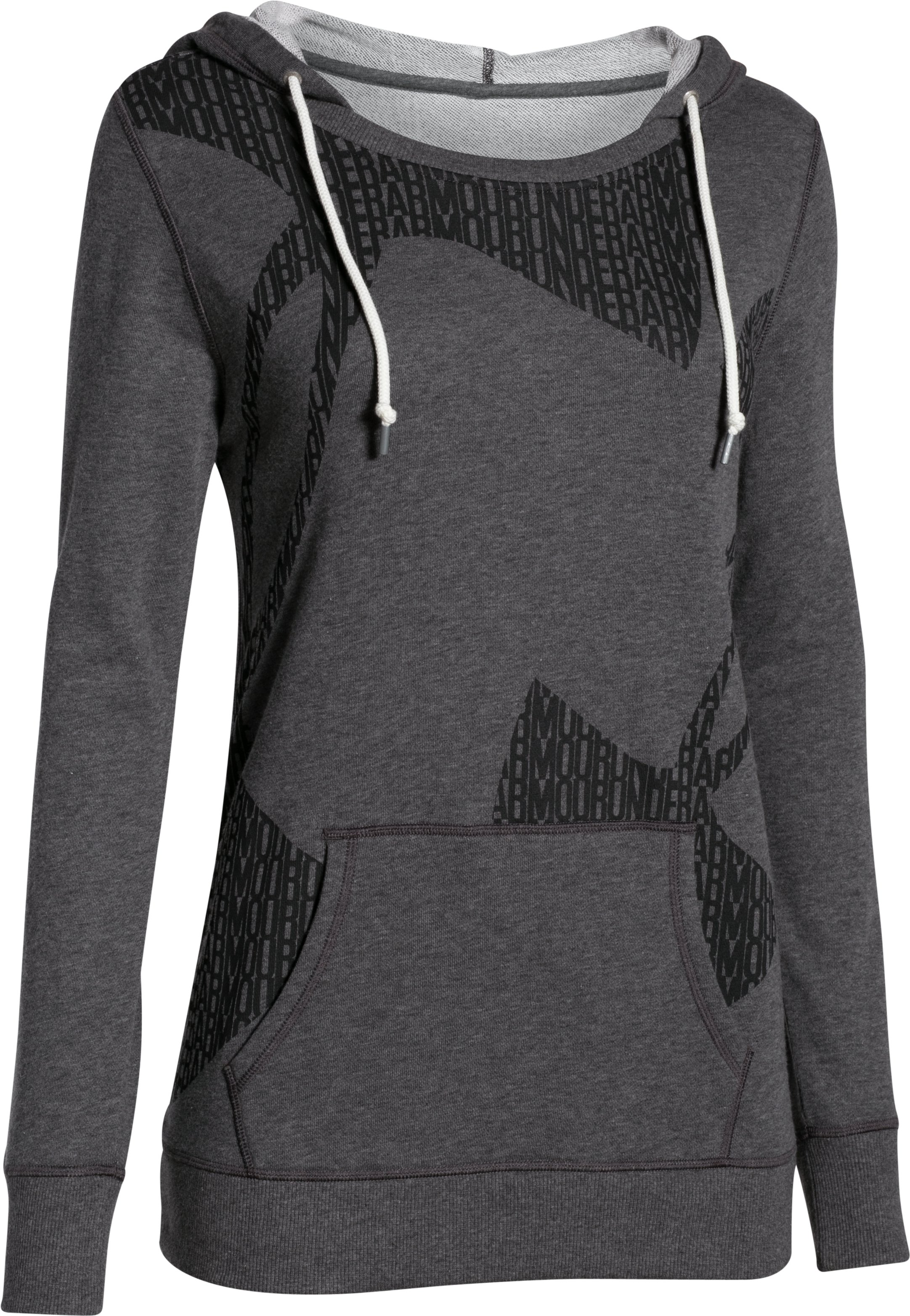 Women's UA Favorite French Terry Popover, Carbon Heather, undefined