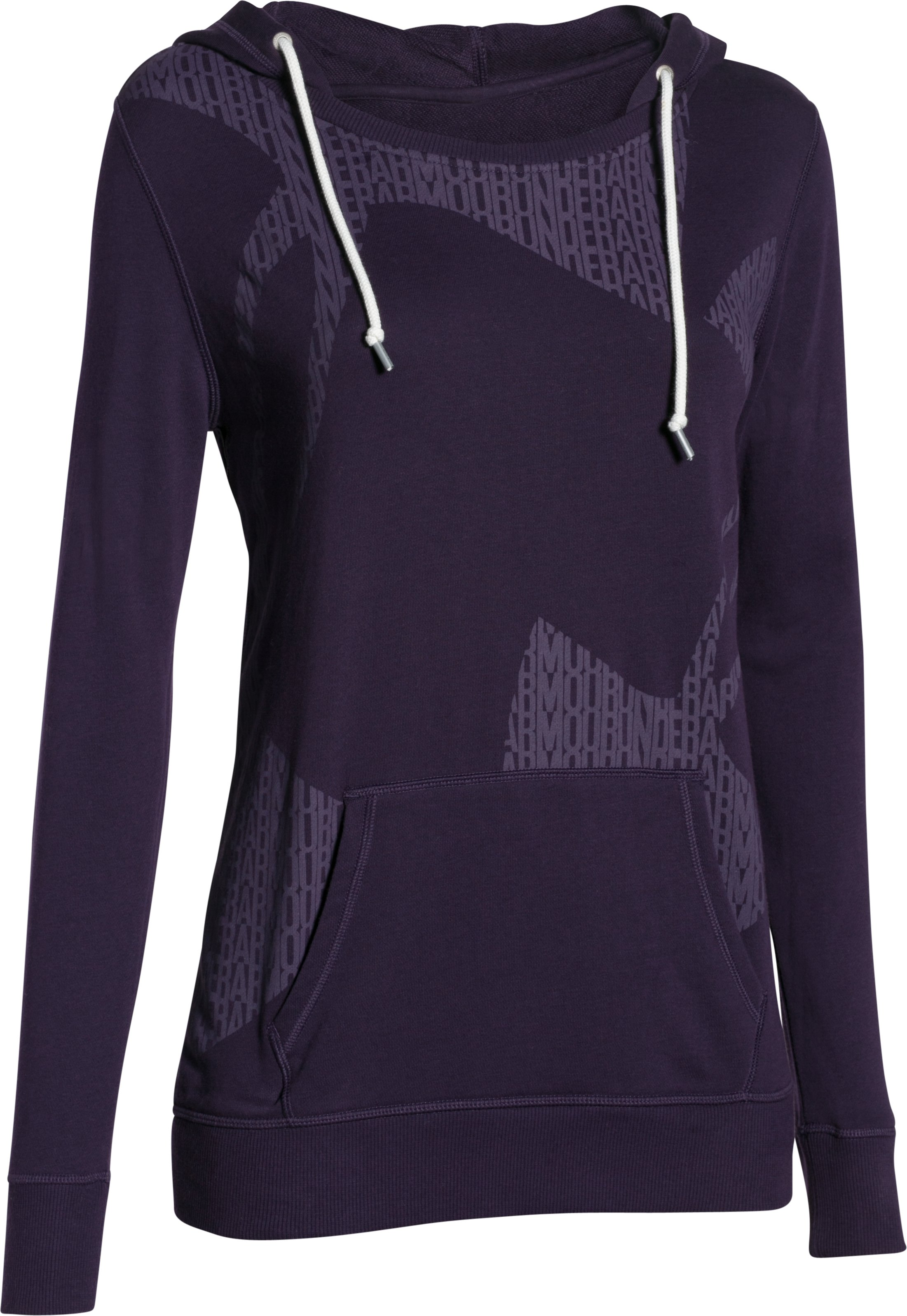 Women's UA Favorite French Terry Popover, EGGPLANT PURPLE, undefined