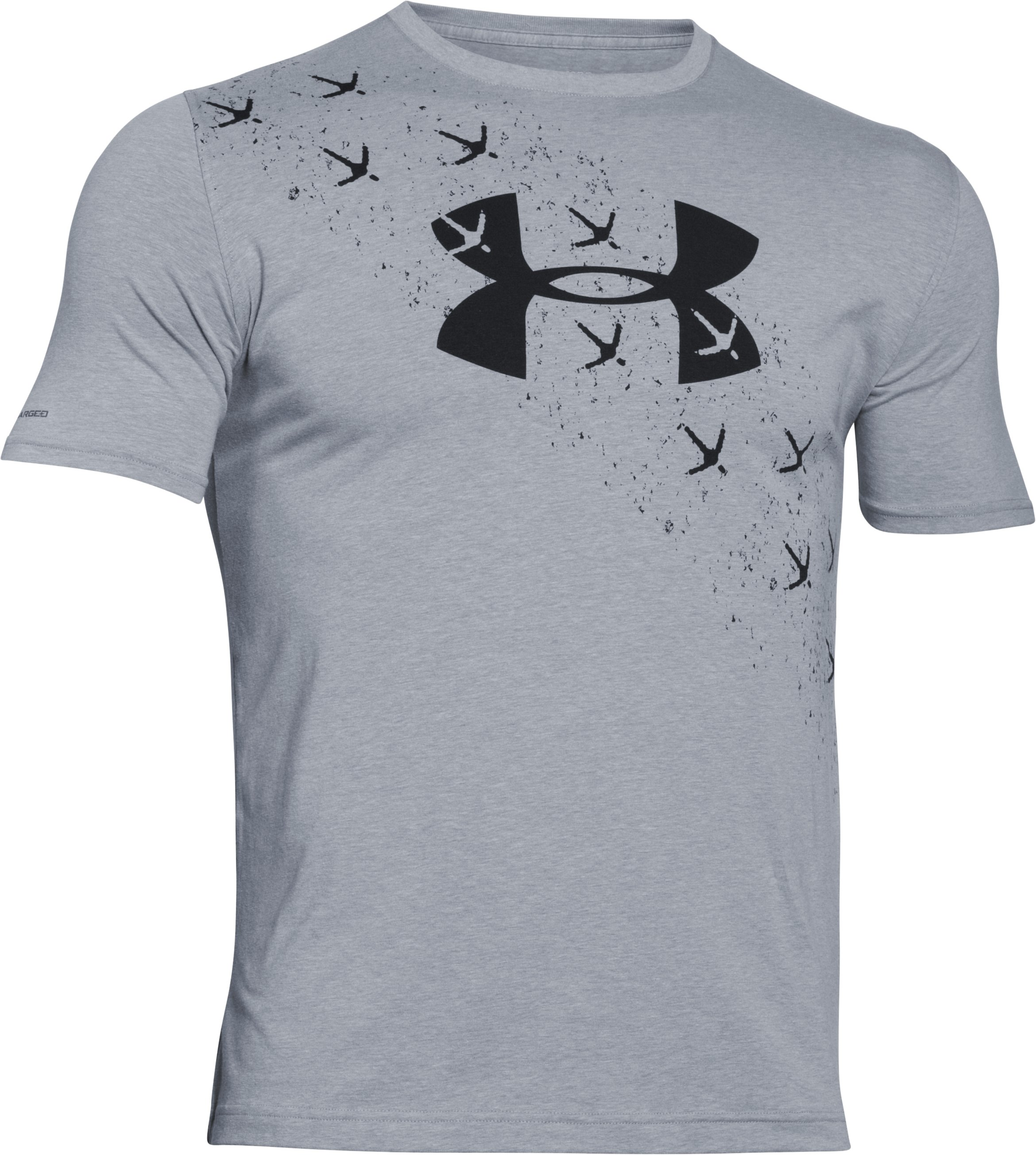 Men's UA Turkey Trax T-Shirt, True Gray Heather, undefined