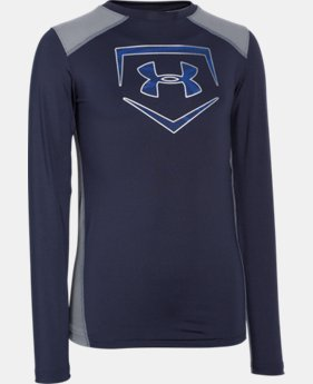 Boys' UA Undeniable Long Sleeve Fitted  1 Color $17.99 to $22.49