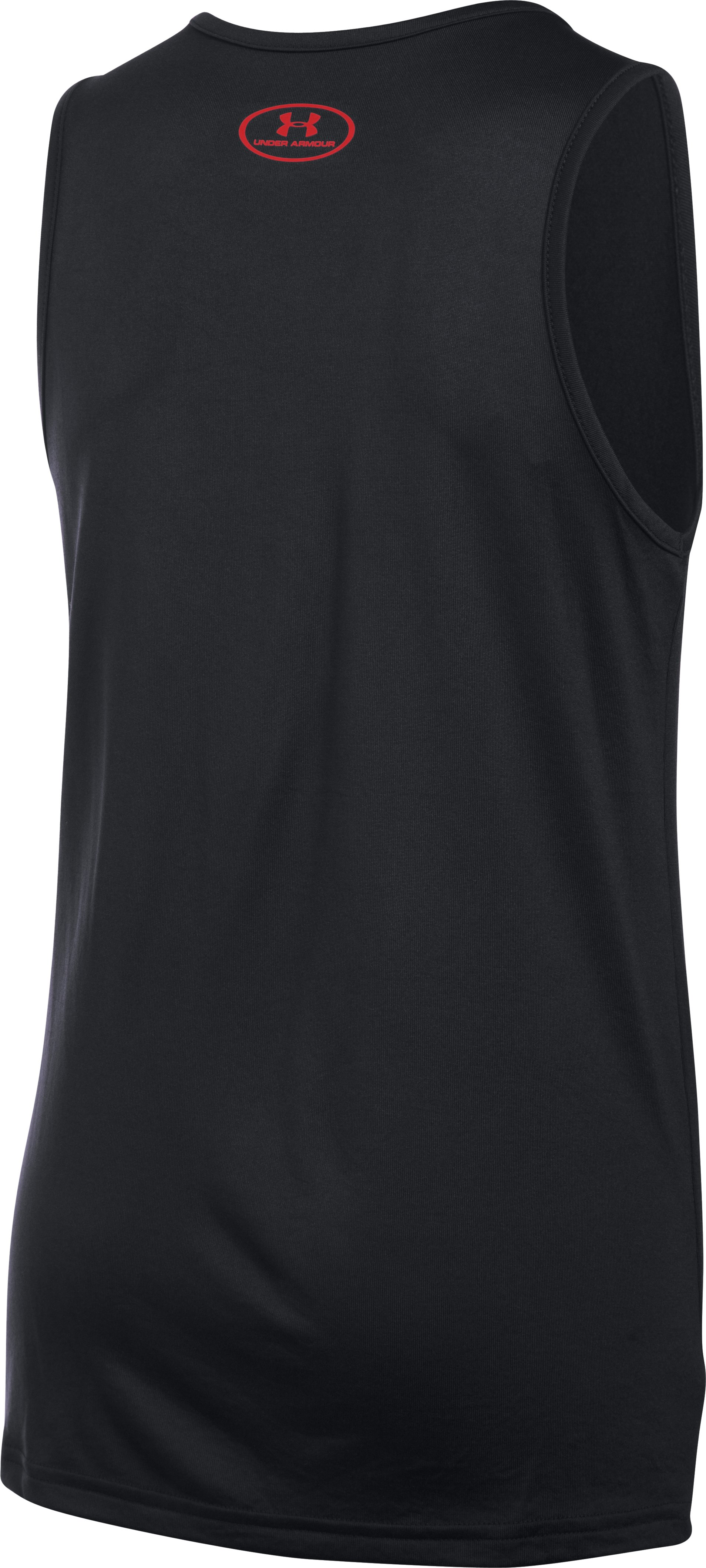 Boys' UA Tech™ Big Logo Tank, Black , undefined