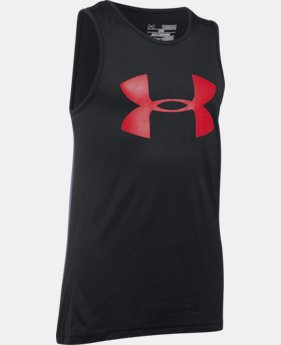 New Arrival Boys' UA Tech™ Big Logo Tank LIMITED TIME: FREE SHIPPING 1 Color $19.99