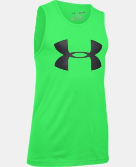 New Arrival Boys' UA Tech™ Big Logo Tank LIMITED TIME: FREE SHIPPING  $19.99