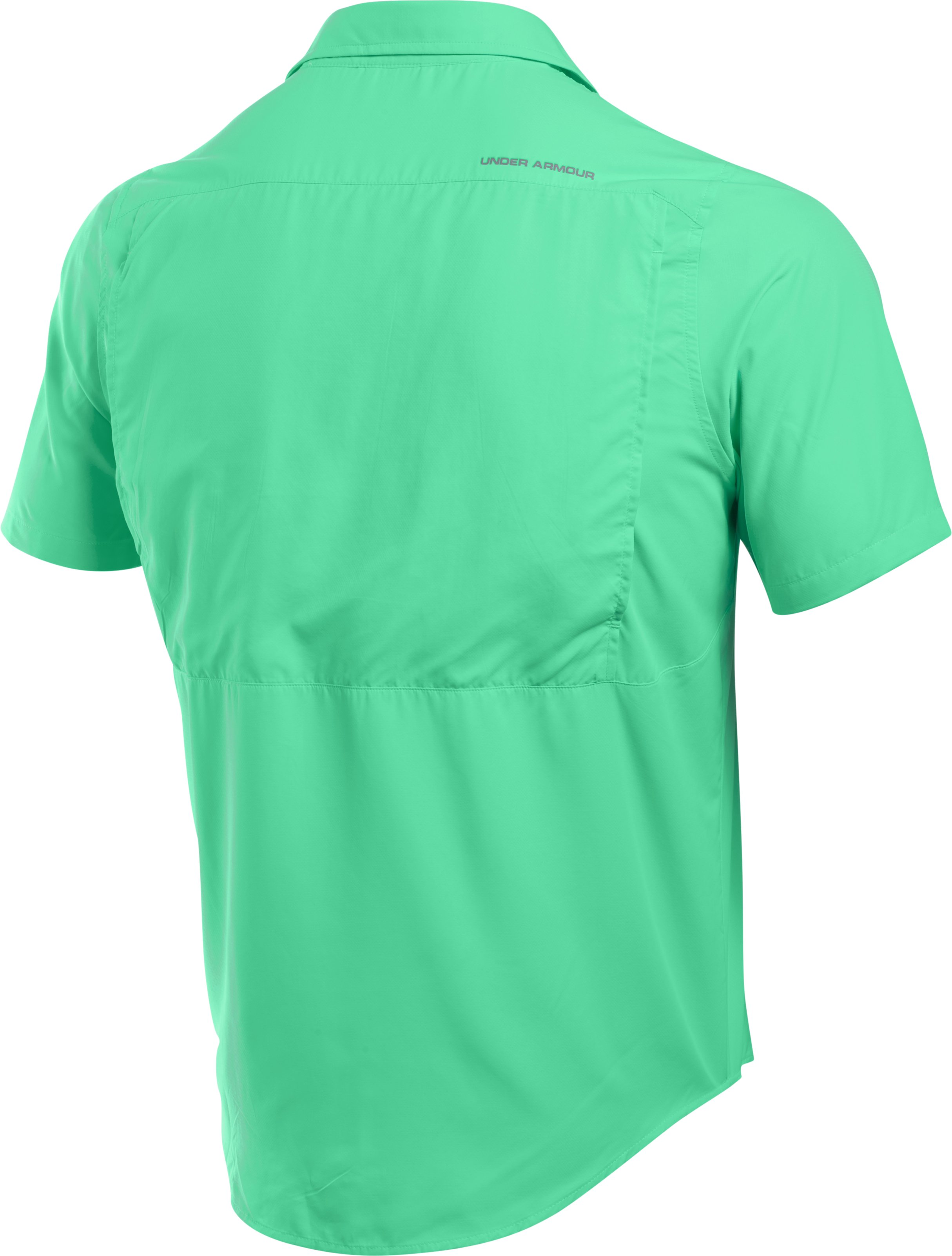 Men's UA Tide Swing Short Sleeve Shirt, ANTIFREEZE, undefined