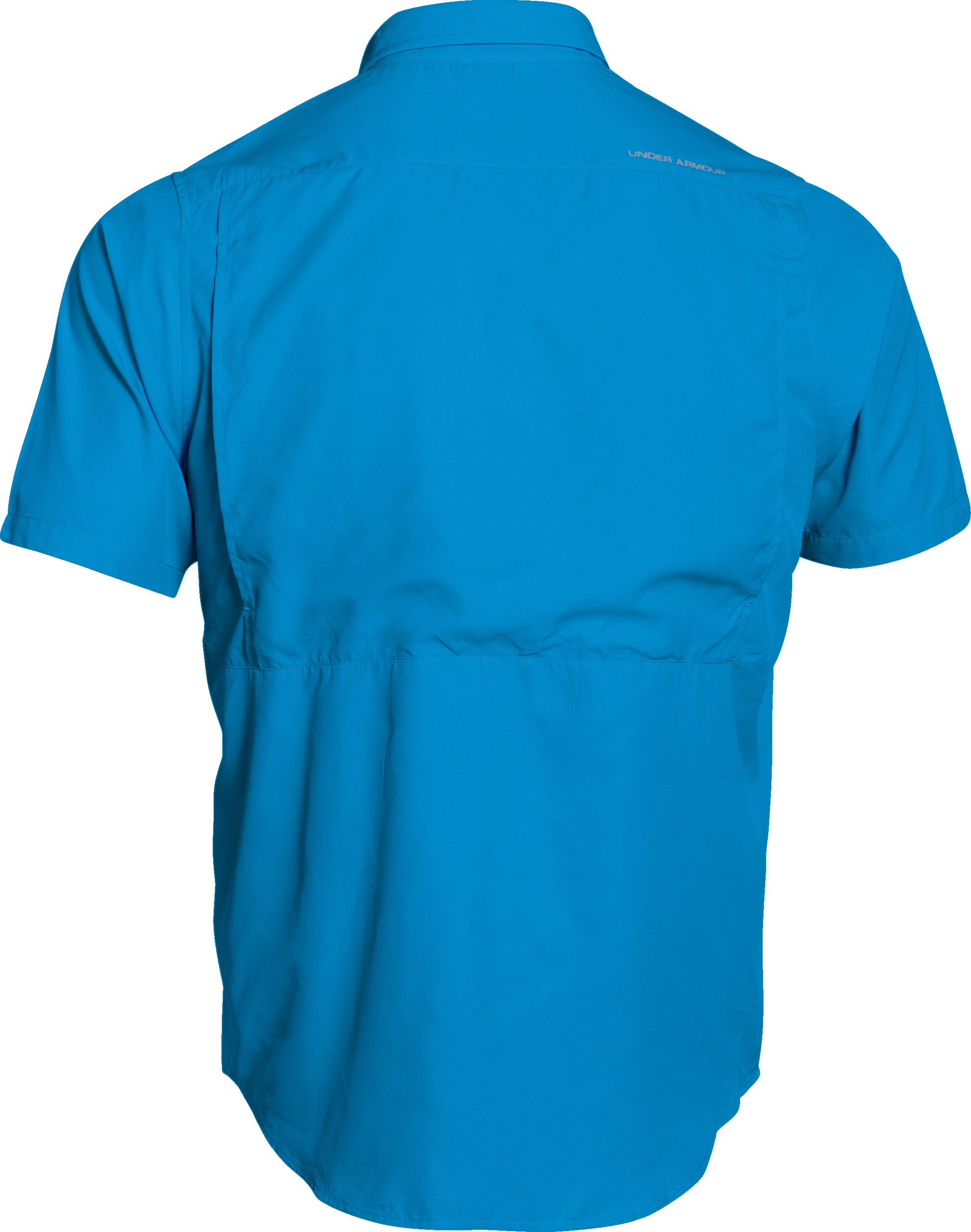 Men's UA Tide Swing Short Sleeve Shirt, ELECTRIC BLUE