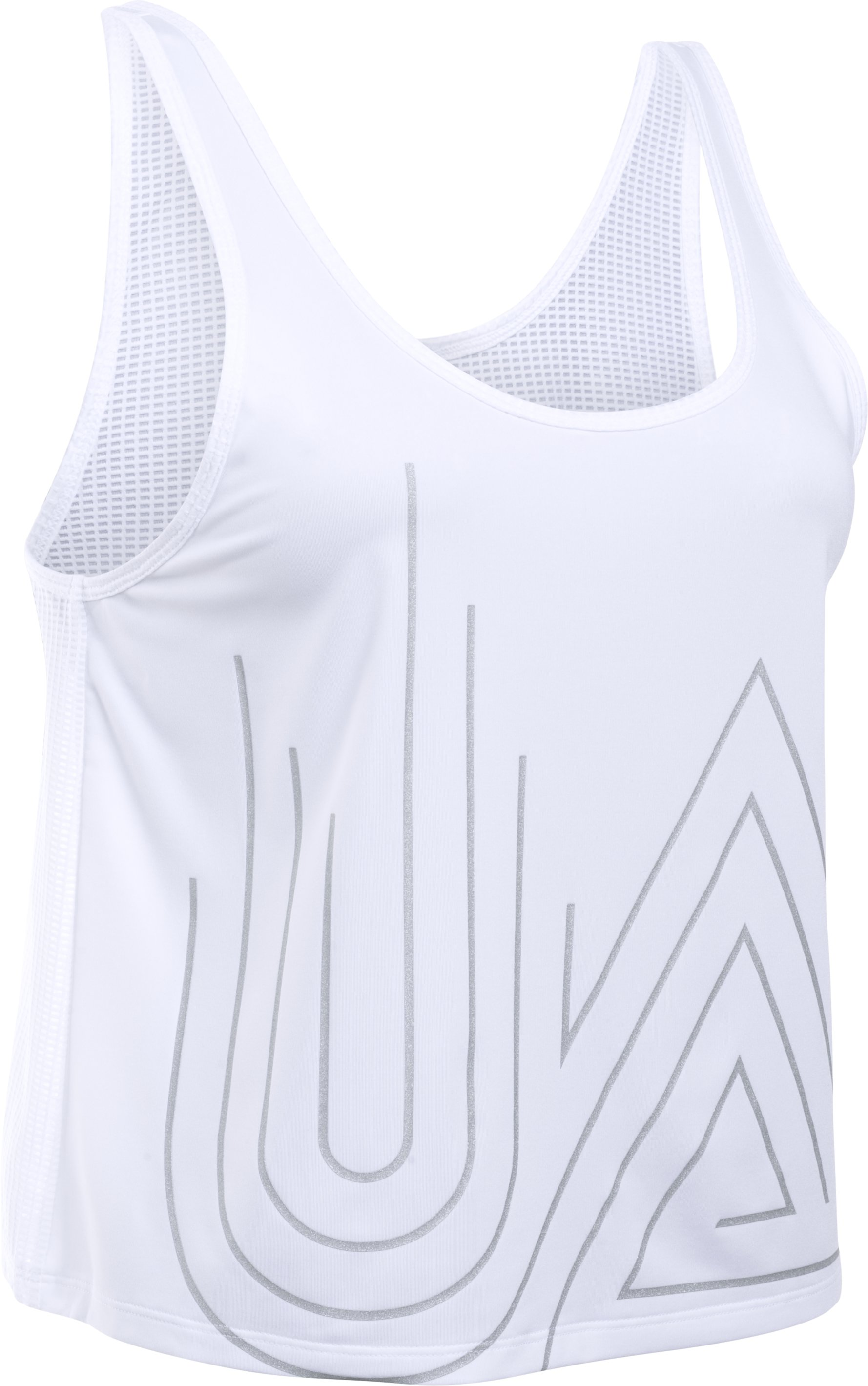 Women's UA Fly-By 2.0 Graphic Midi, White, undefined