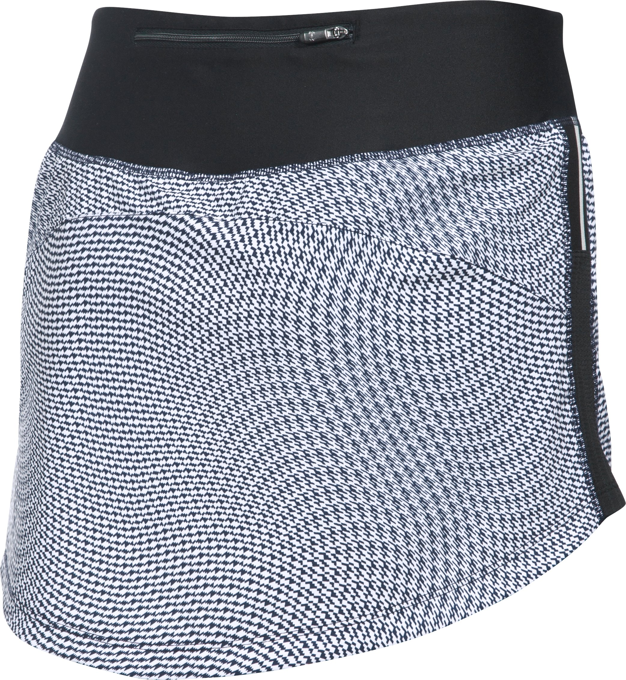 Women's UA Stretch Woven Printed Run Skort, Black , undefined