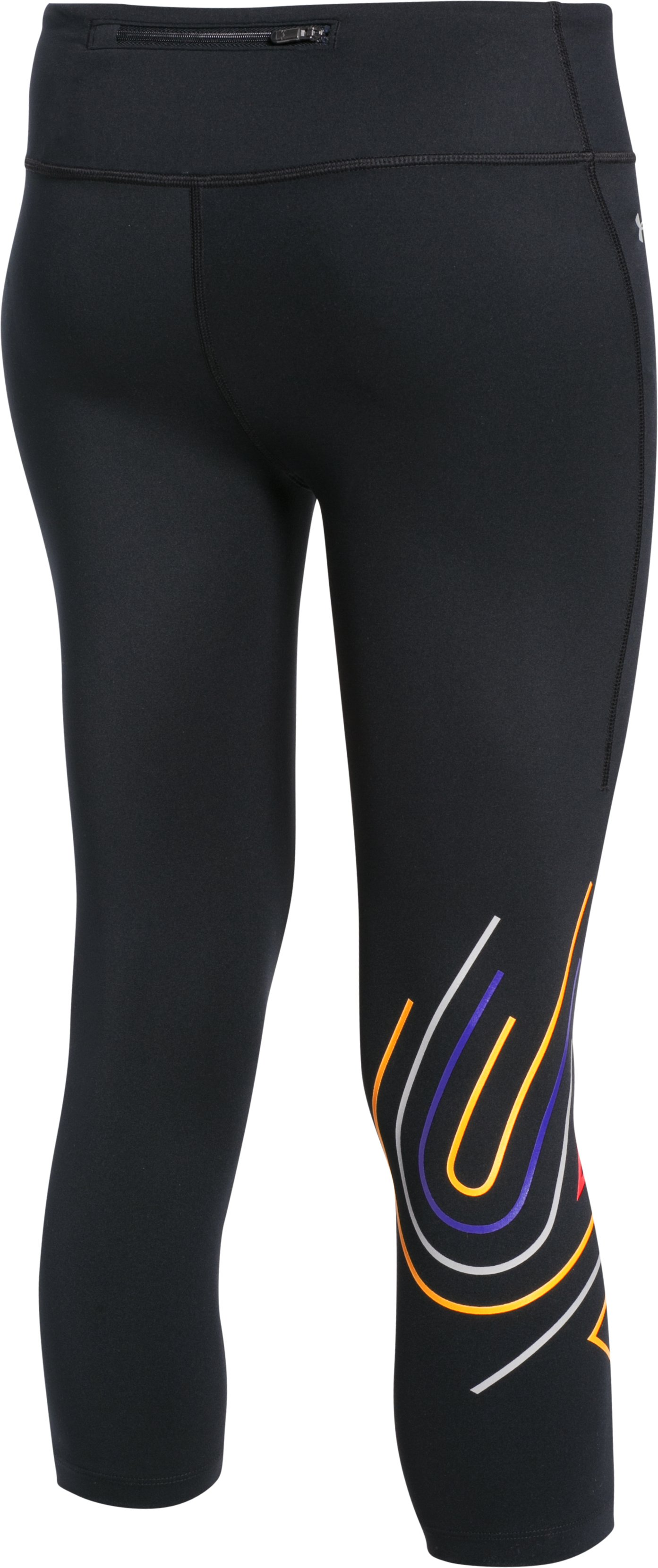 Women's UA Fly-By 2.0 Graphic Capris, Black
