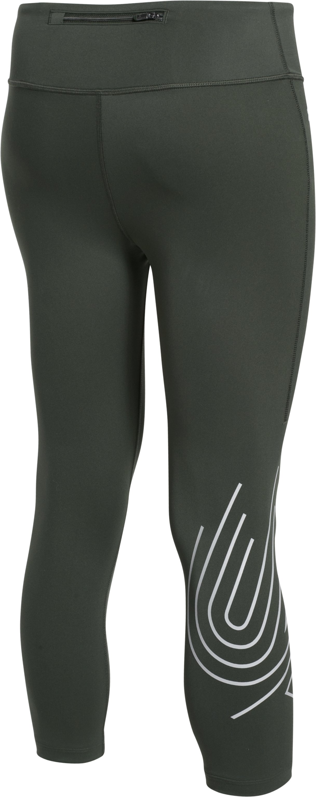 Women's UA Fly-By 2.0 Graphic Capris, COMBAT GREEN, undefined