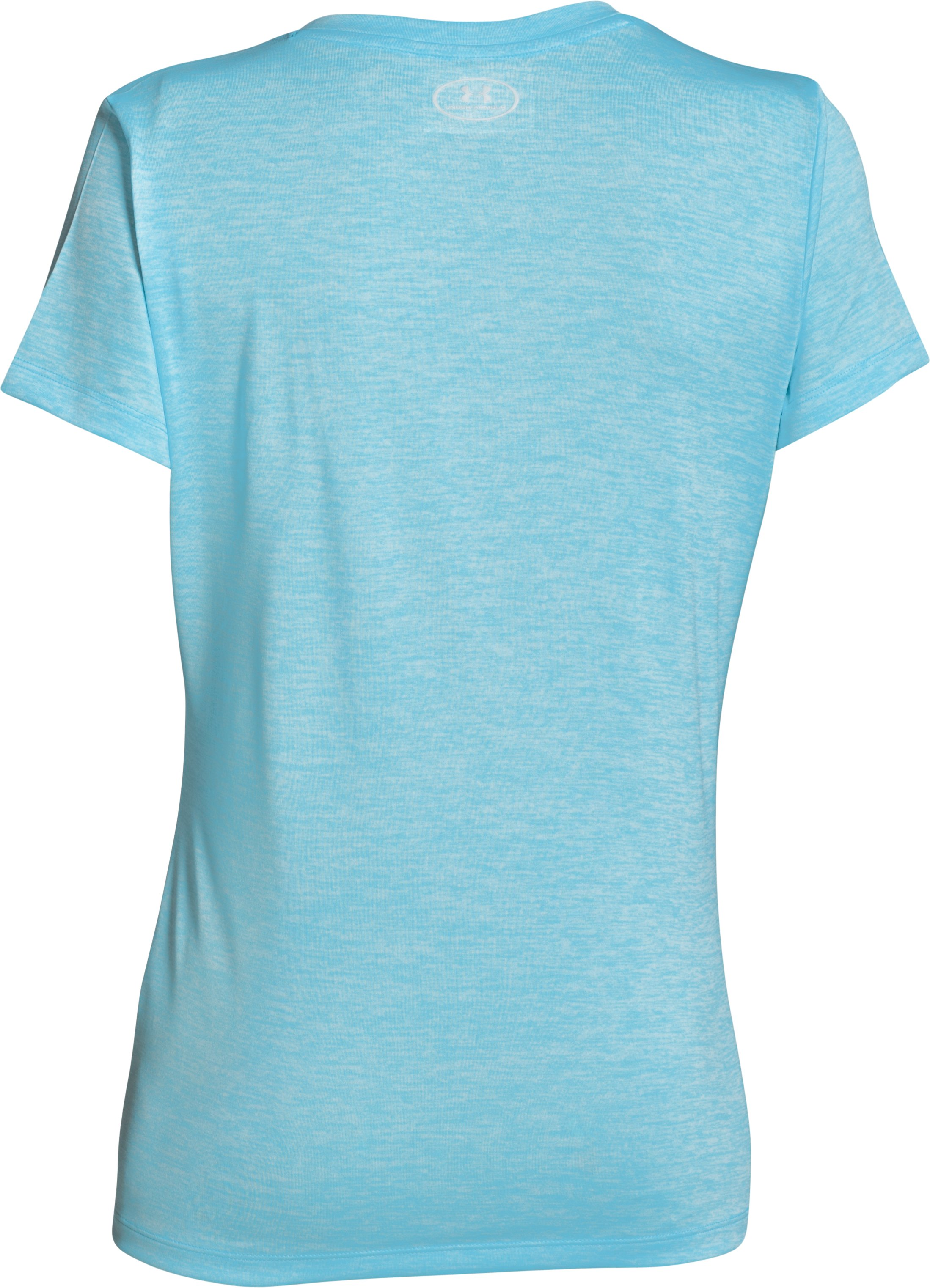 Women's UA Tech™ V-Neck - Twist Logo, SKY BLUE, undefined