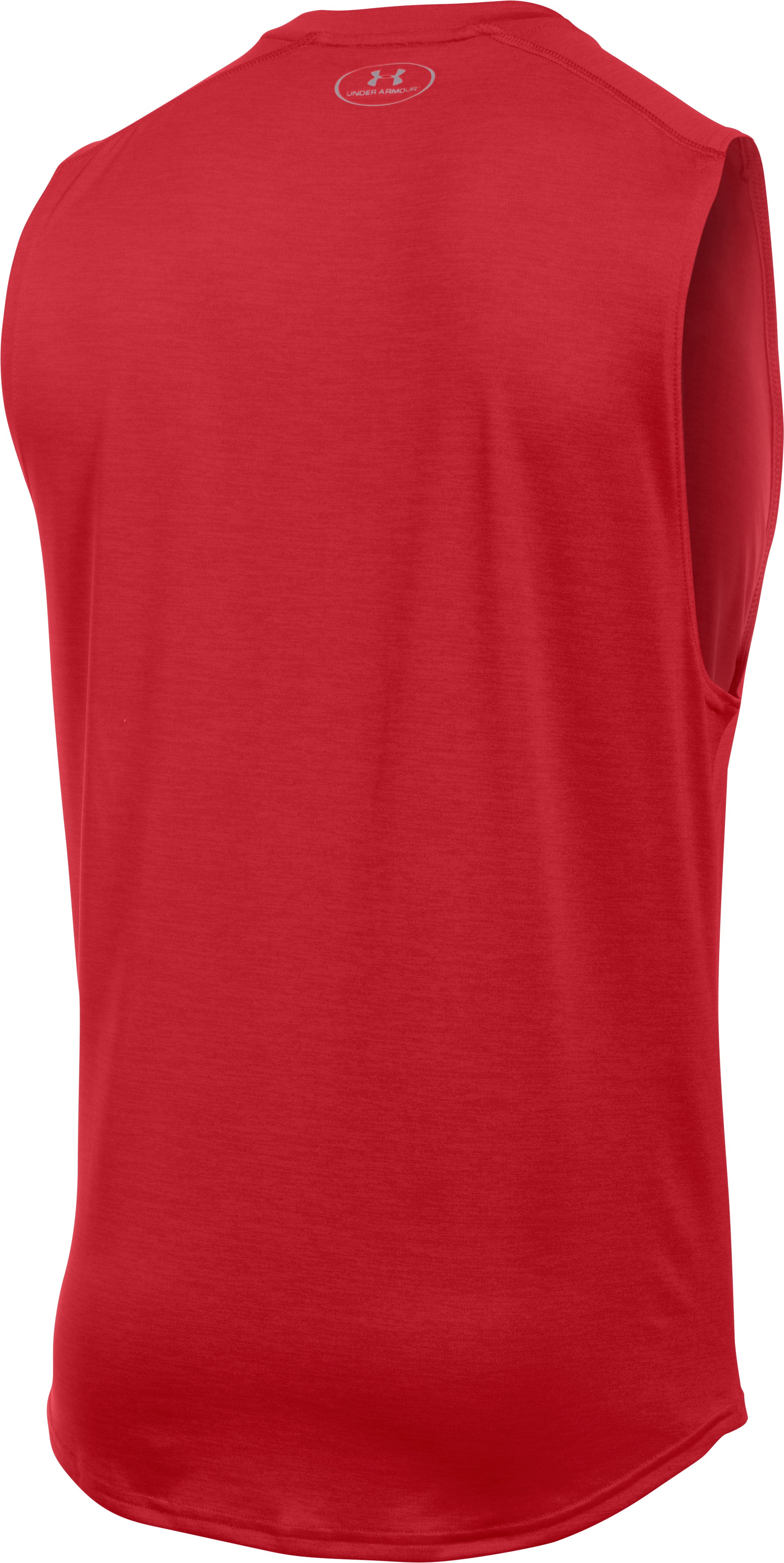 Men's UA Tech™ Muscle Tank, Red, undefined