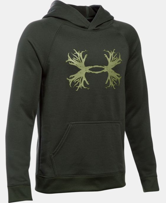 New Arrival  Boys' UA Youth Established Hoodie LIMITED TIME: FREE SHIPPING 1 Color $33.99