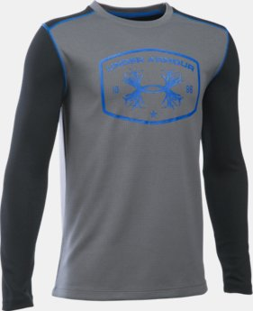 Boys' UA Youth Thermal Crew LIMITED TIME: FREE U.S. SHIPPING 1 Color $26.99