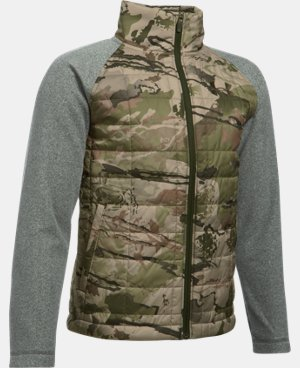 Boys' UA Camo Hybrid Jacket LIMITED TIME: 25% OFF 2 Colors $56.24