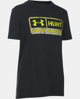 Boys' UA Hunt Tag Short Sleeve T-Shirt LIMITED TIME: FREE SHIPPING  $19.99