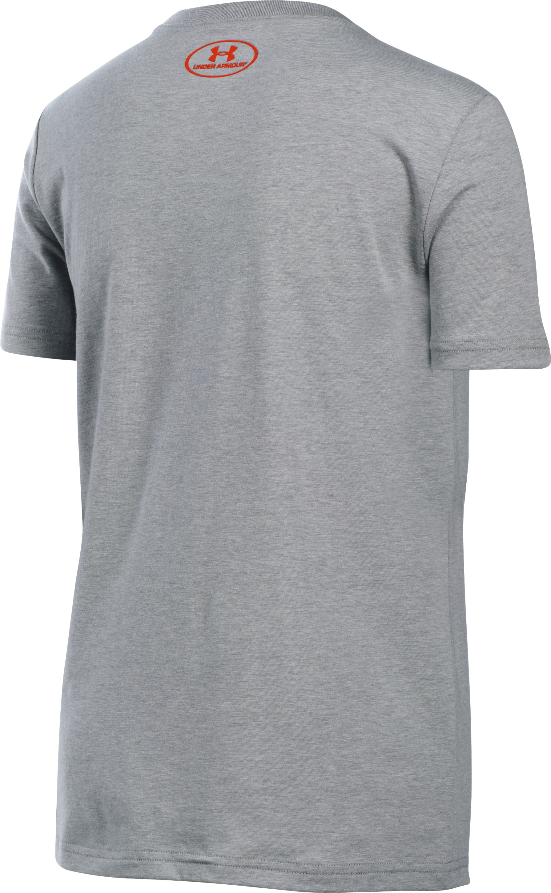 Boys' UA Hunt Tag Short Sleeve T-Shirt, True Gray Heather, undefined