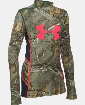 Girls' UA ColdGear® Infrared Scent Control Tevo Long Sleeve Shirt LIMITED TIME: FREE SHIPPING  $49.99