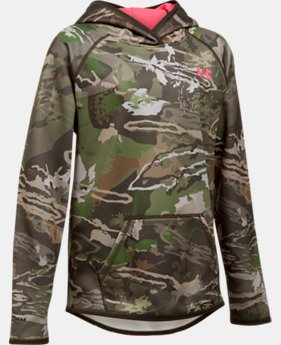Girls' UA Storm Camo Hoodie LIMITED TIME OFFER 2 Colors $52.99