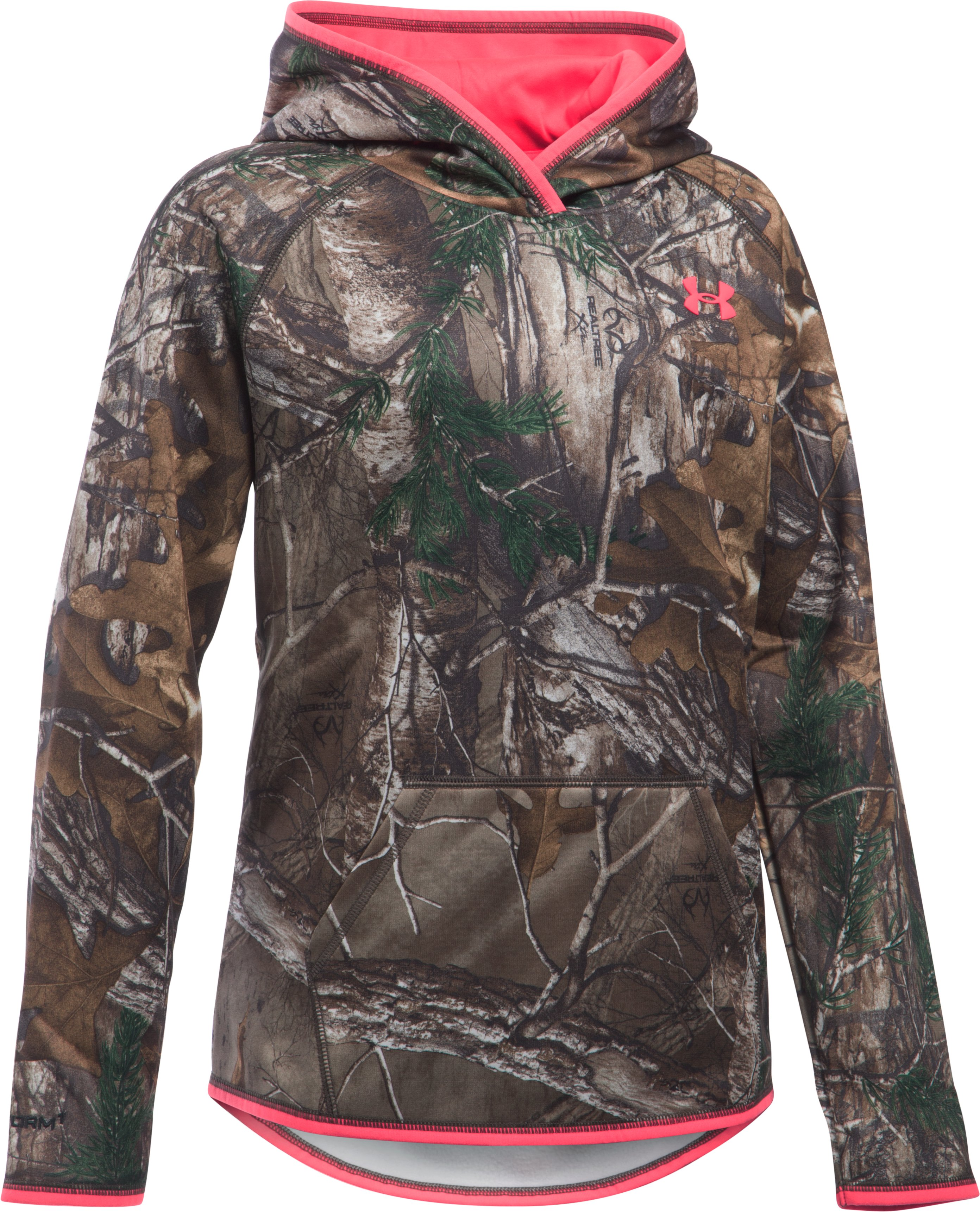 Girls' UA Storm Camo Hoodie, REALTREE AP-XTRA, zoomed image