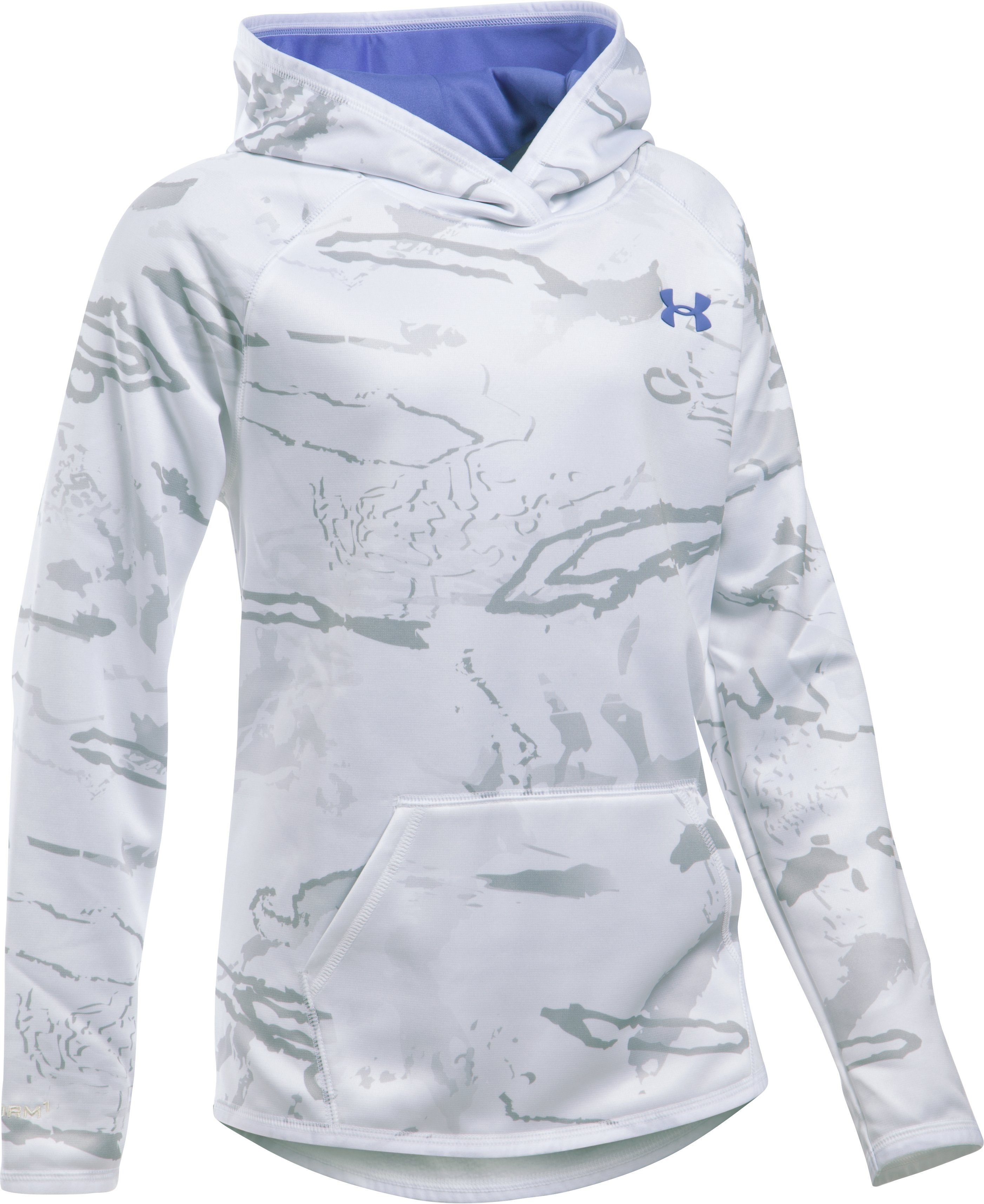 Girls' UA Storm Camo Hoodie, RIDGE REAPER® SNOW, zoomed image