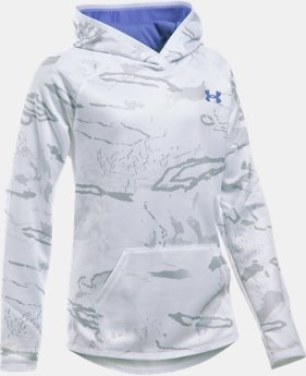 Girls' UA Storm Camo Hoodie LIMITED TIME: FREE SHIPPING 2 Colors $52.49