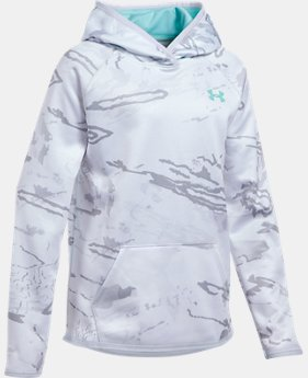 Girls' UA Storm Camo Hoodie LIMITED TIME OFFER 1 Color $44.99