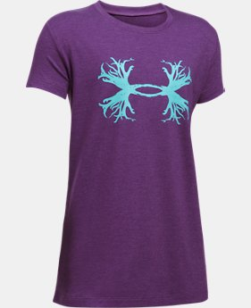 Girls' UA Antler Logo T-Shirt  1  Color Available $17.24