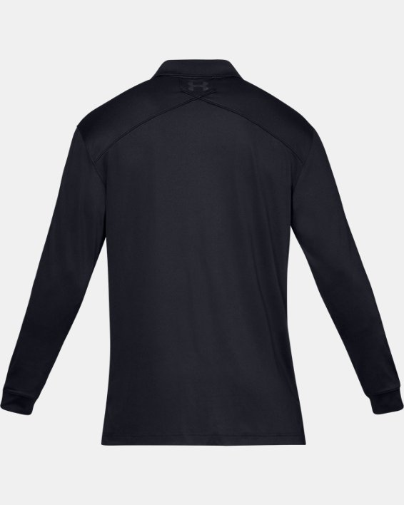 Men's UA Tactical Performance Long Sleeve Polo, Black, pdpMainDesktop image number 4
