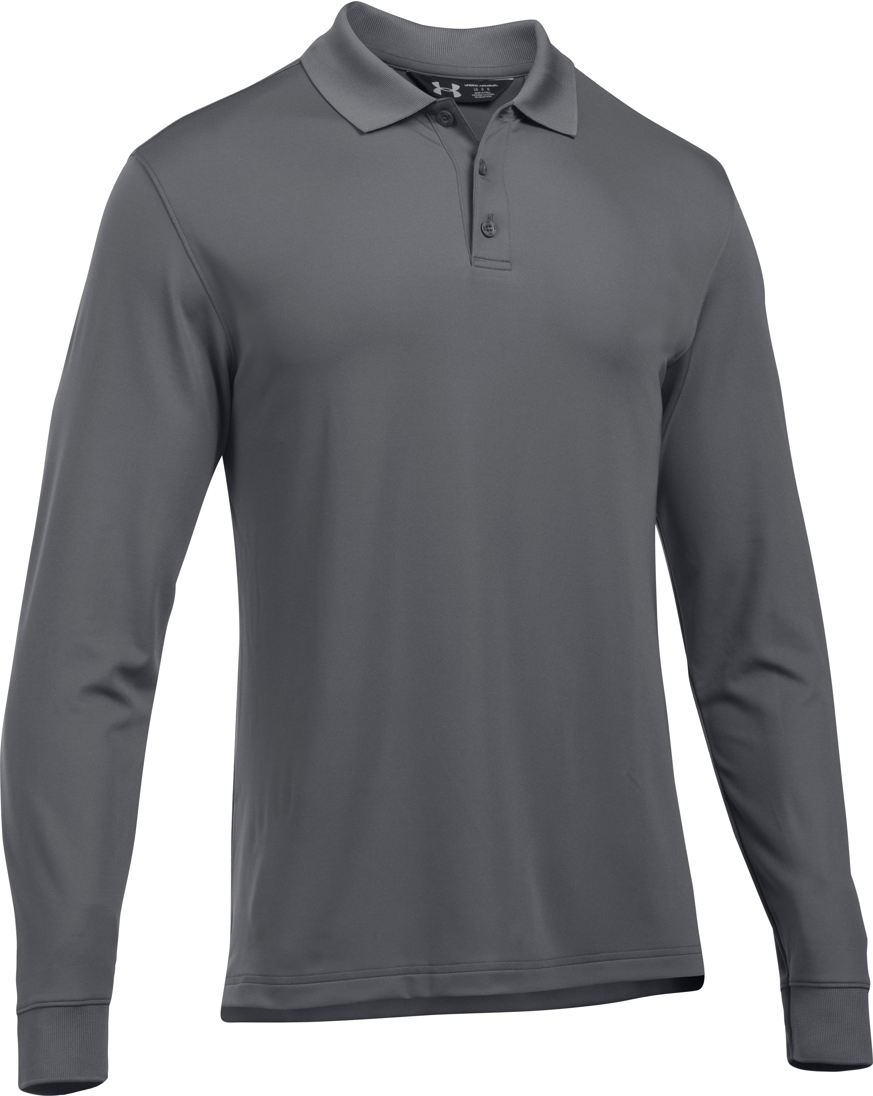 Men's UA Tactical Performance Long Sleeve Polo, Graphite, undefined
