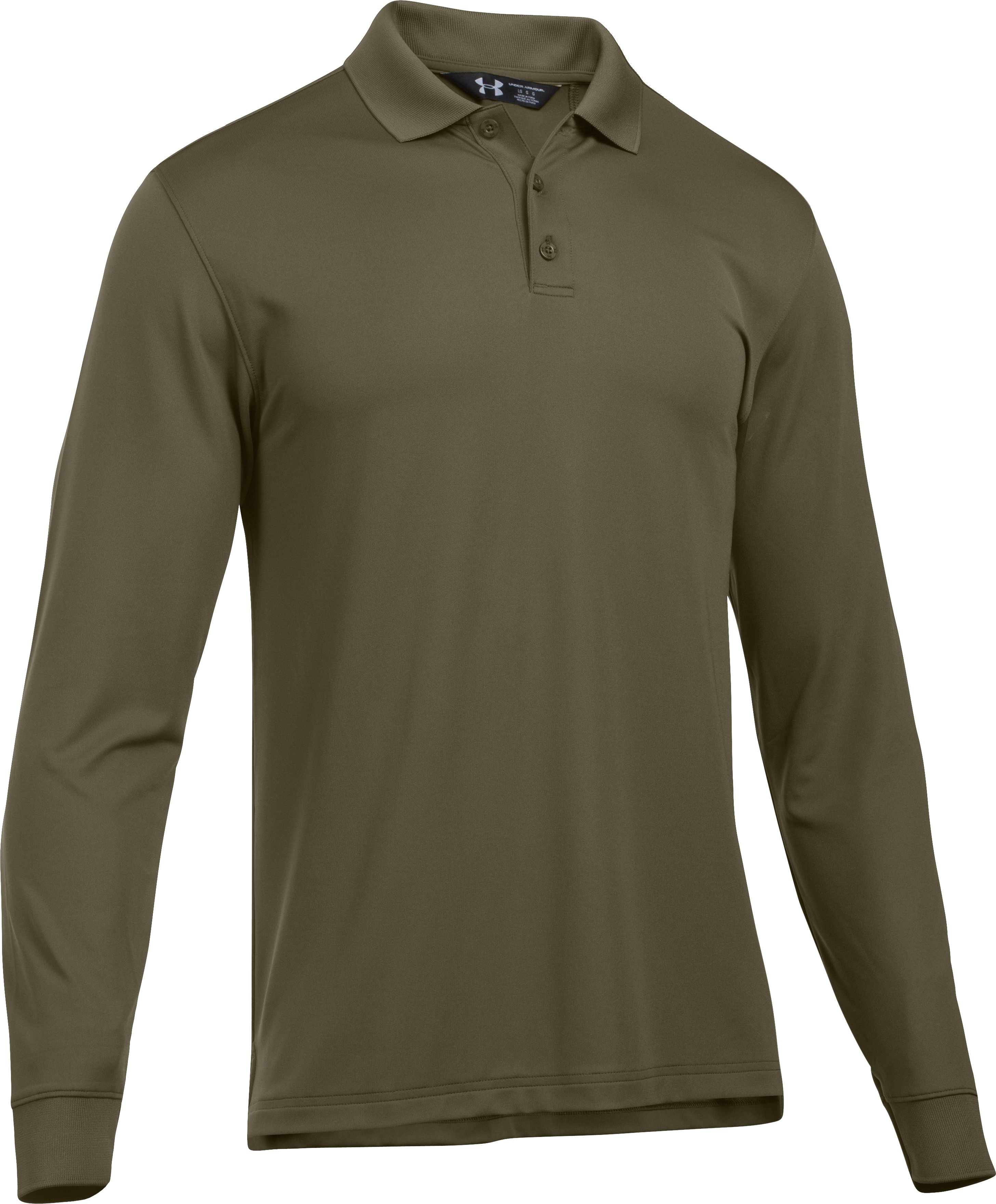 Men's UA Tactical Performance Long Sleeve Polo, Marine OD Green, undefined