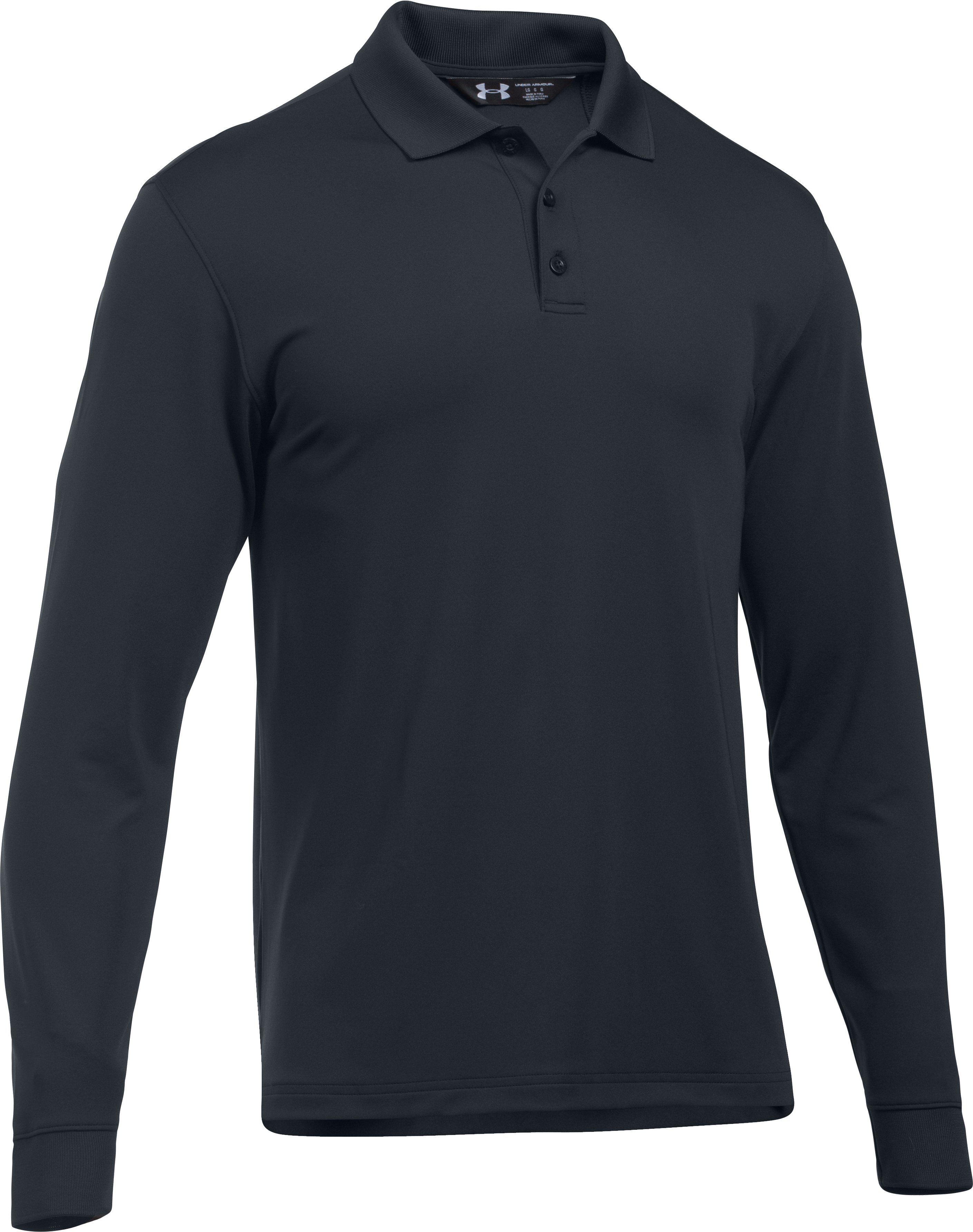 Men's UA Tactical Performance Long Sleeve Polo, Dark Navy Blue , undefined